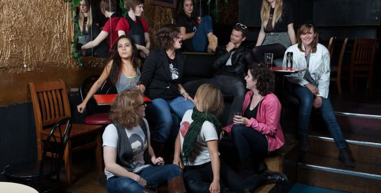 The staff in the back of The Cameron House (missing: Gaby Grice, Director of Music)